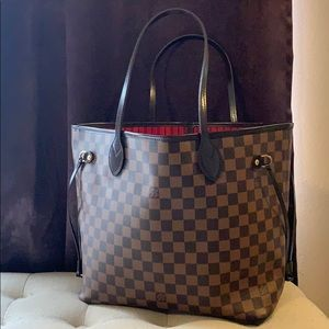 Auth Louis Vuitton Neverfull MM Tote Bag